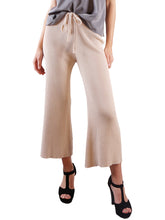 Load image into Gallery viewer, Cropped Wide Leg Pant With Drawstring Waist-Tie