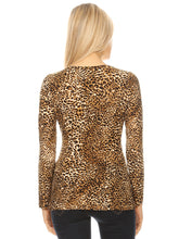 Load image into Gallery viewer, Leopard Print Long-Sleeve T-Shirt