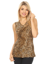 Load image into Gallery viewer, Leopard Print V-Neck Tank Top