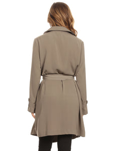 Casual Lightweight Belt Trench Coat