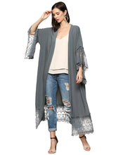 Load image into Gallery viewer, Boho Lace Kimono Cover-Up Cardigan