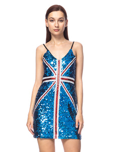 British Power Sequin UK Dress