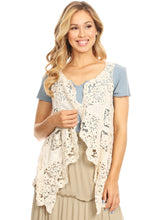 Load image into Gallery viewer, Boho Stitch Crochet Cardigan Vest