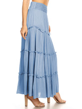 Load image into Gallery viewer, Maxi Bohemian Layered Skirt
