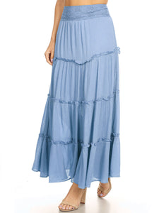 Maxi Bohemian Layered Skirt