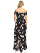 Load image into Gallery viewer, Casual Floral Off-The-Shoulder Maxi Dress