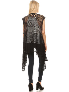 Anna-Kaci Womens Fringe Sequin Strap Backless 1920s Flapper Party Mini Dress
