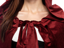 Load image into Gallery viewer, Medieval Tie-Hood Velvet Cape