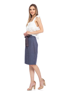 Knee-High Length Pencil Skirt