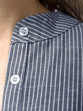 Load image into Gallery viewer, Casual Button Up Stripe Sleeves Shirt