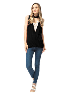 Choker V-Neck Low Cut Tank