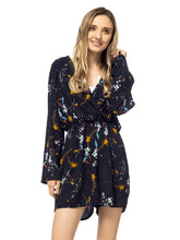 Load image into Gallery viewer, Floral Print Backless Long-Sleeve Romper