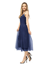 Load image into Gallery viewer, Tutu Tulle Ruffle Midi Dress
