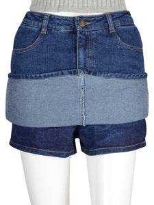 Casual Jean Mini Skirt-Skorts