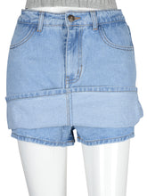 Load image into Gallery viewer, Casual Jean Mini Skirt-Skorts