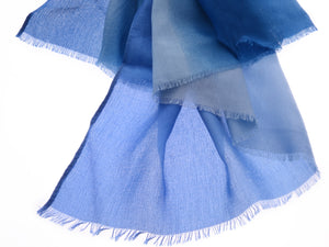 Lightweight Pastel Blue Ombre Scarf
