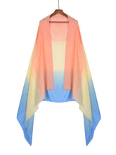 Load image into Gallery viewer, Lightweight Pastel Blue Ombre Scarf