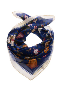 Silk Satin Floral Print Head Scarf
