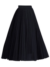 Load image into Gallery viewer, Flowy Tulle Pleated Midi Skirt