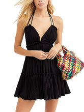 Load image into Gallery viewer, Summer Boho V-Neck Mini Dress