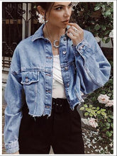 Load image into Gallery viewer, Plus Size Oversized Denim Jacket