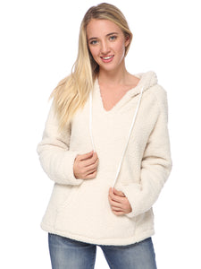 Fuzzy Sherpa Oversized Pullover Hoodie