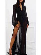 Load image into Gallery viewer, Chiffon Maxi Bathing Suit Robe Cover Up