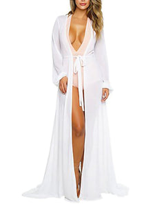Chiffon Maxi Bathing Suit Robe Cover Up