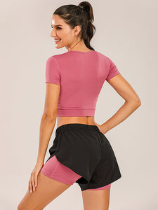 Sport Running Shorts 2 in 1 with Pockets