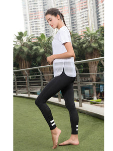 Workout Tops Short Sleeve Mesh Side Split Casual Loose Tank Tops