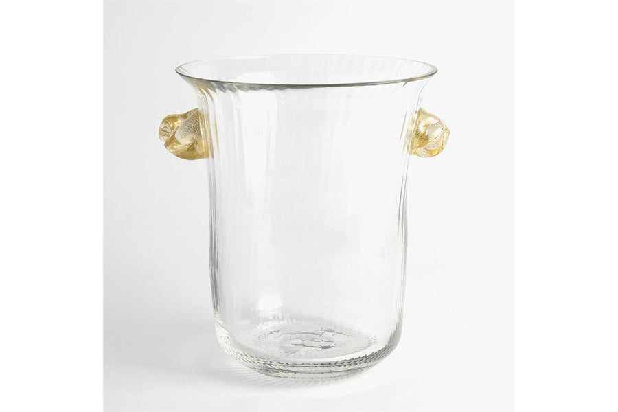 Champagne Ice Bucket with Gold Knot Handles