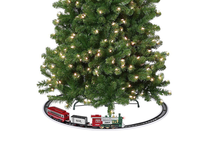Animated Train Around the Tree
