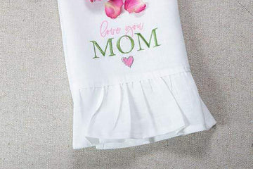 Love You Mom Linen Towel