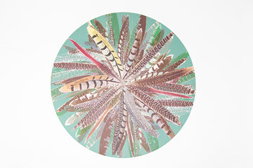 Green Pheasant Feather Placemat
