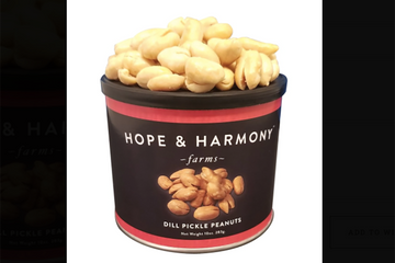 Dill Pickle Peanuts, 10oz - Hope & Harmony