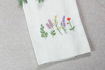 Wildflowers Linen Towel