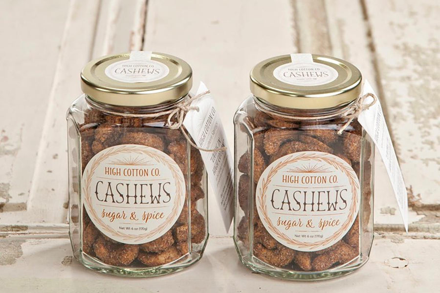 Sugar & Spice Cashews, 6oz jar - High Cotton Co.