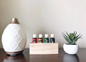 Medium Essential Oil Wood Holder