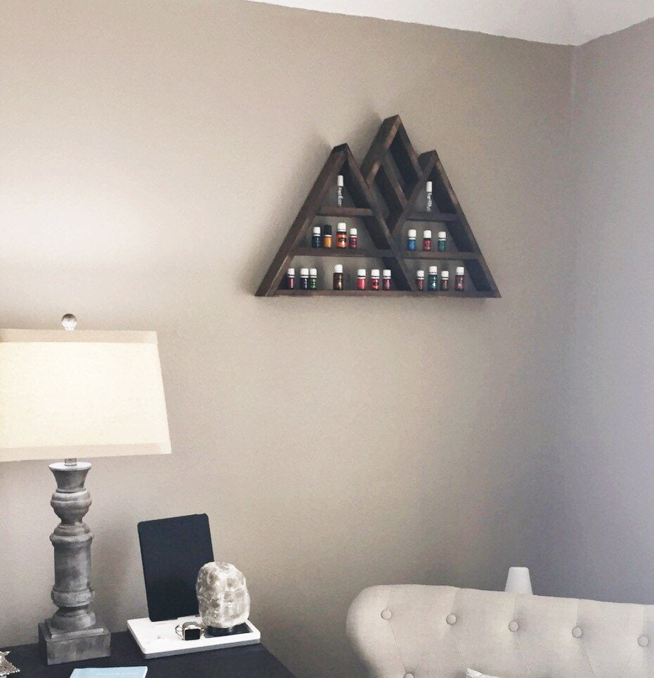Large Mountain Shelf, Mountain Shelf, Triangle Shelf, Essential Oil Shelf