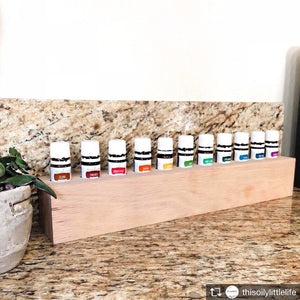 Large Essential Oil Wood Holder