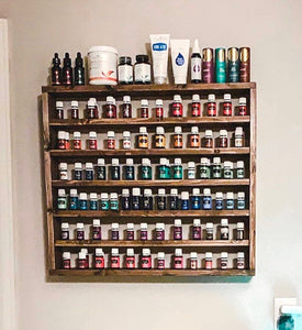 Essential Oil 6 Shelf Wall Rack, Essential Oil Shelf, Storage, Display, Organization, Nail Polish Rack