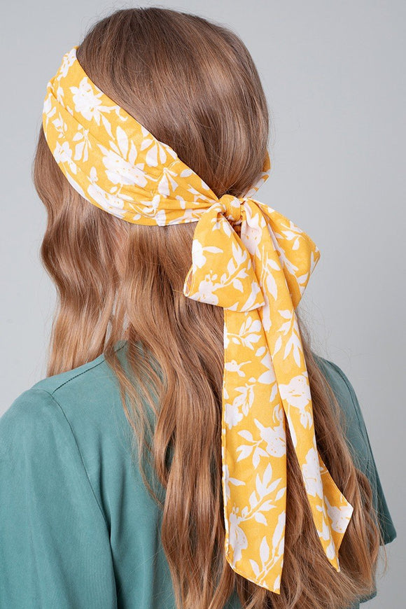 Floral Twisted Head Wrap