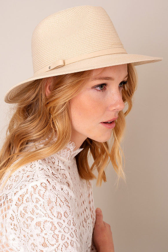 Kate Suede Band Panama Hat