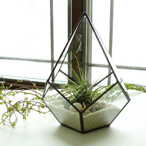 Geometric Glass Planter