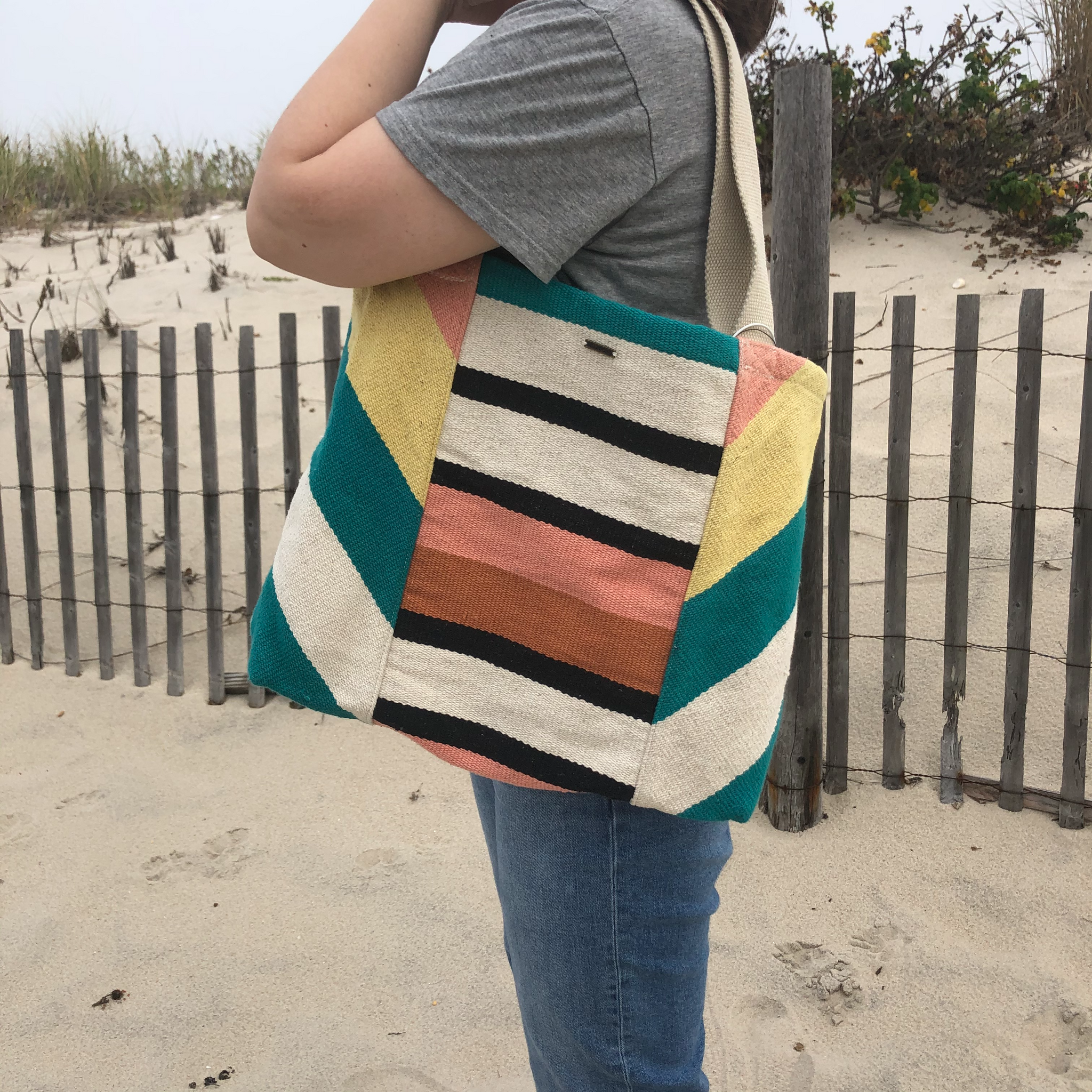 Billabong Striped Tote