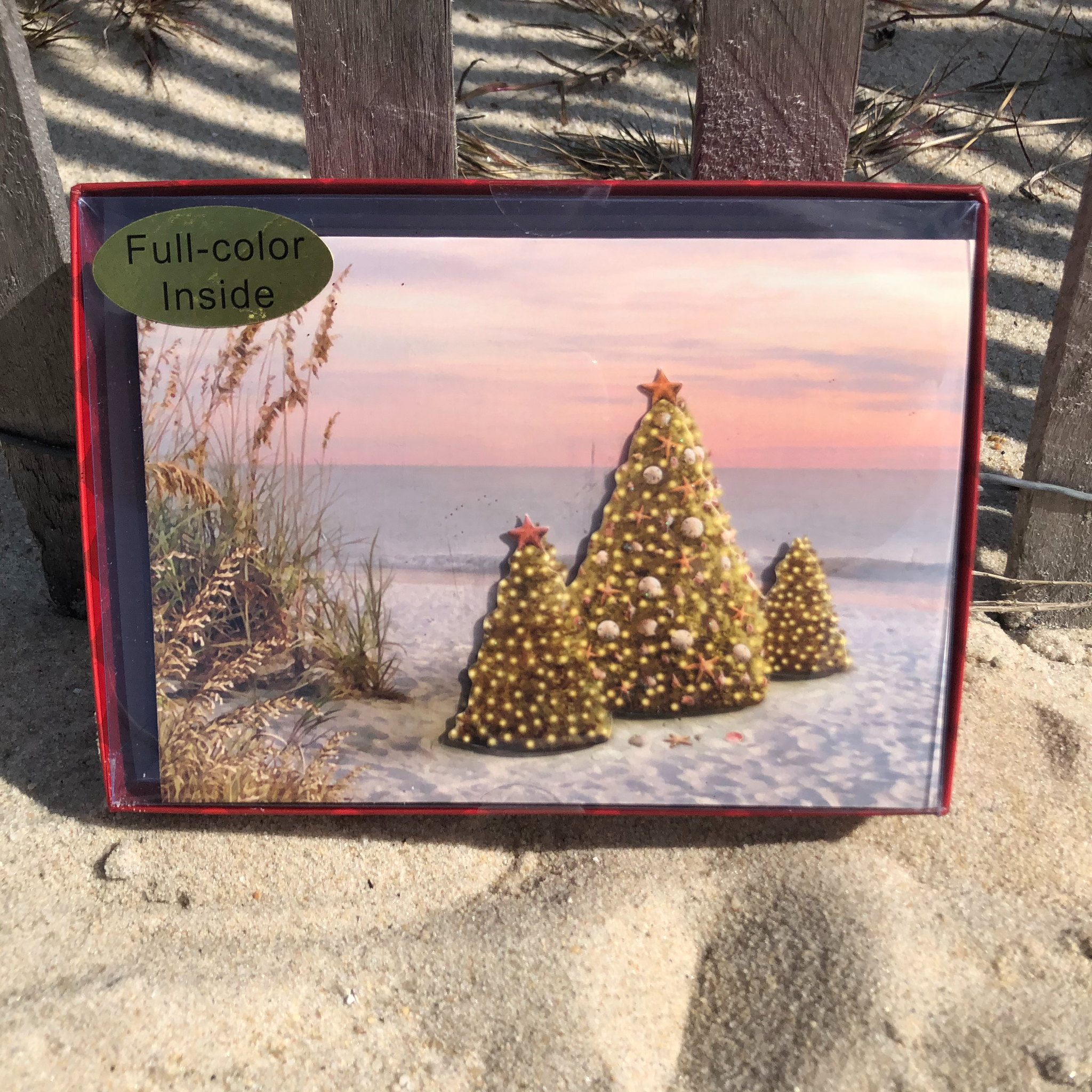 Holiday Sunset Tree Greeting Cards Set