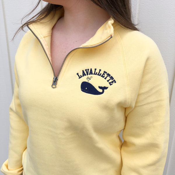 Lavallette Whale Quarter Zip (2 Color Options)