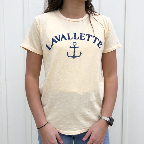 Lavallette Fitted Anchor T-Shirt (Various Color Options)
