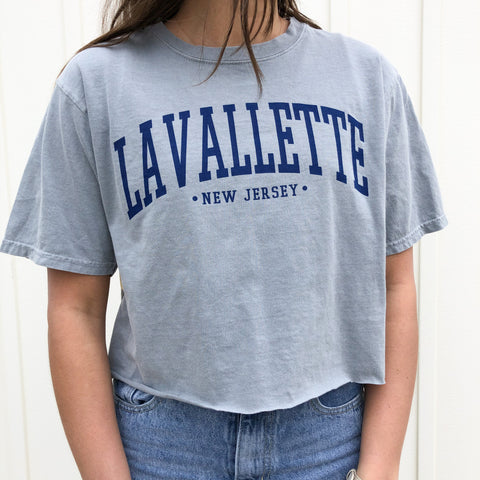 Lavallette Cropped T-Shirt (Various Color Options)