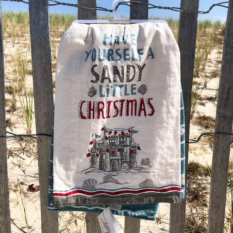 """Have Yourself a Sandy Little Christmas"" Dish Towel Set"